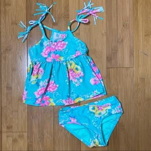 Hula Star Garden Dream Two-Piece Swimsuit MLT 2T